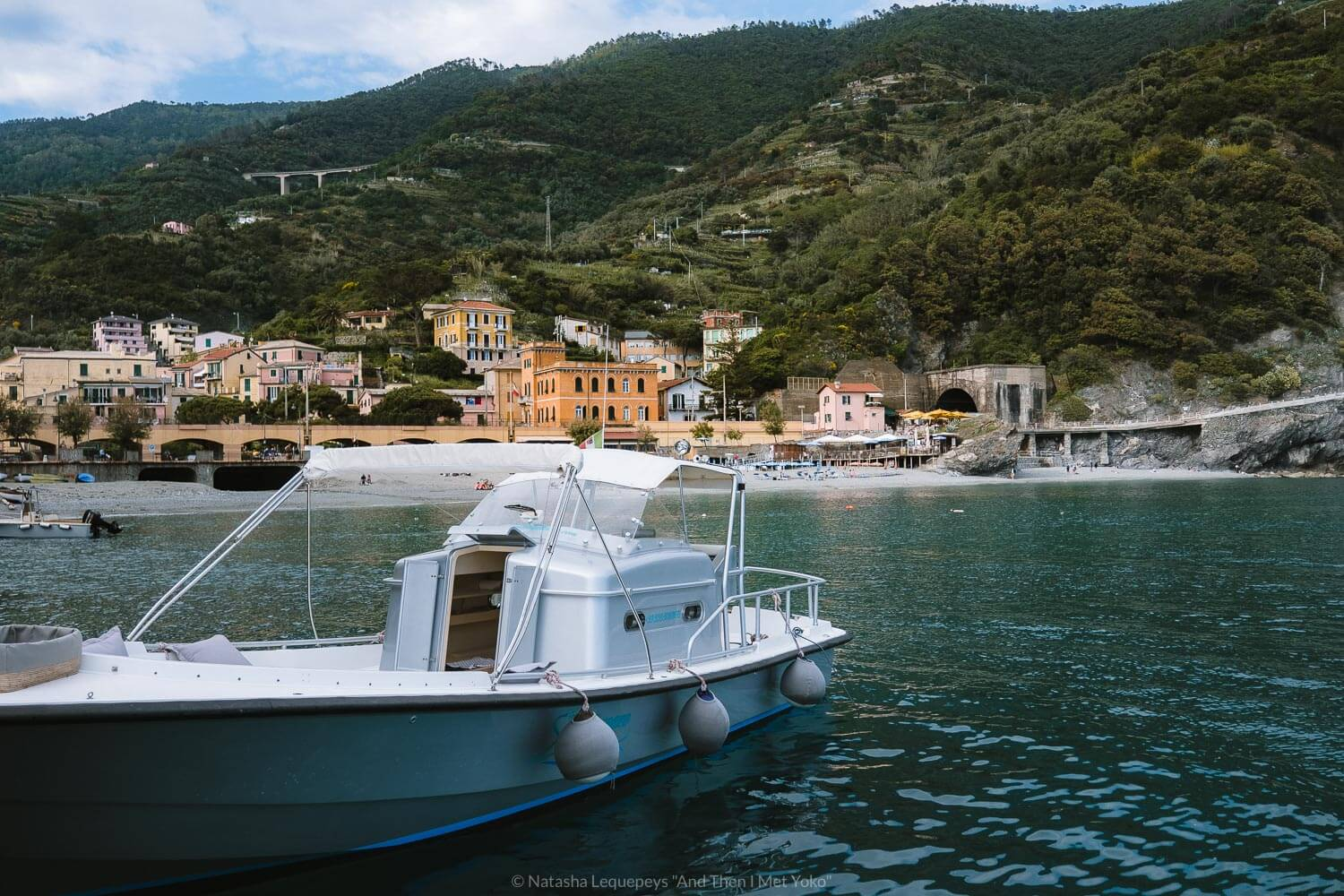 """Boarding with Sea Breeze Tours in Monterosso al Mare, Cinque Terre. Travel photography and guide by © Natasha Lequepeys for """"And Then I Met Yoko"""". #cinqueterre #italy #travelphotography"""