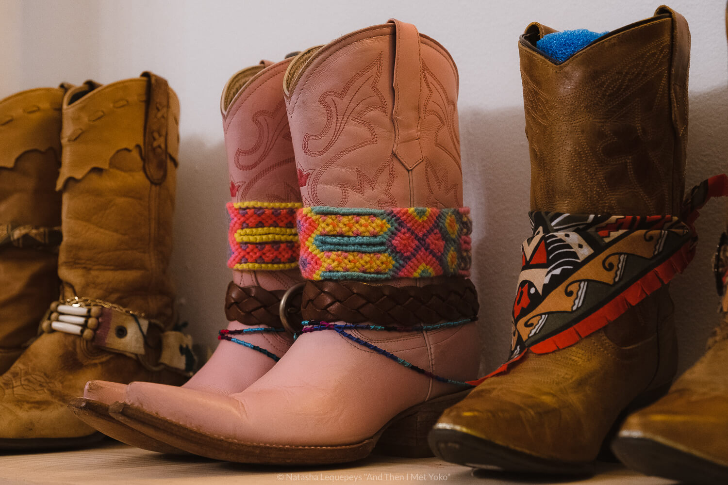 """Vintage cowboy boots at East & Up vintage clothing boutique, downtown Savannah, Georgia. Travel photography and guide by © Natasha Lequepeys for """"And Then I Met Yoko"""". #savannah #usa #travelguide #travelblog"""