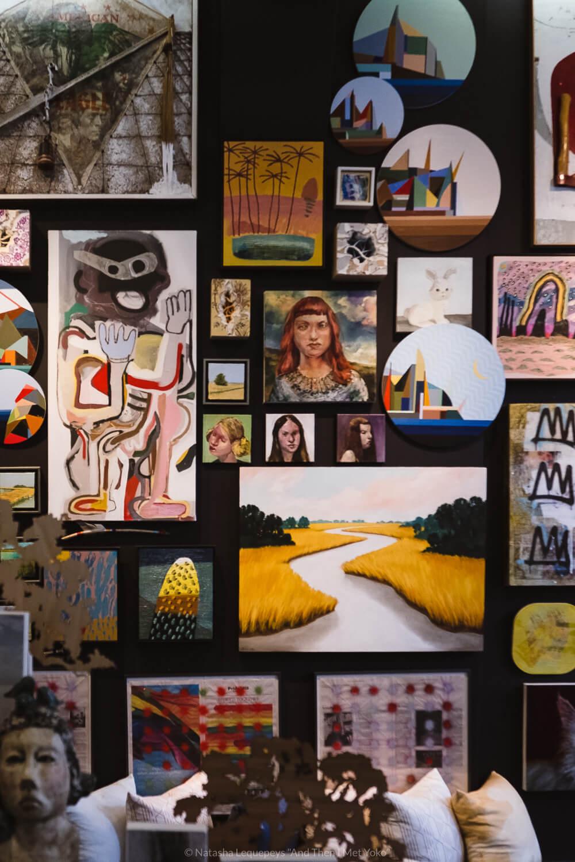 "Art wall at ShopSCAD, downtown Savannah, Georgia. Travel photography and guide by © Natasha Lequepeys for ""And Then I Met Yoko"". #savannah #usa #travelguide #travelblog"