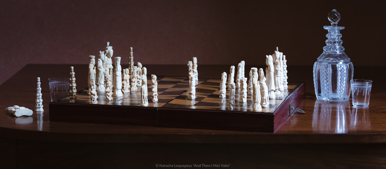 """A chess set inside the Thomas-Owens house. Travel photography and guide by © Natasha Lequepeys for """"And Then I Met Yoko"""". #savannah #usa #travelphotography #travelguide #travelblog"""
