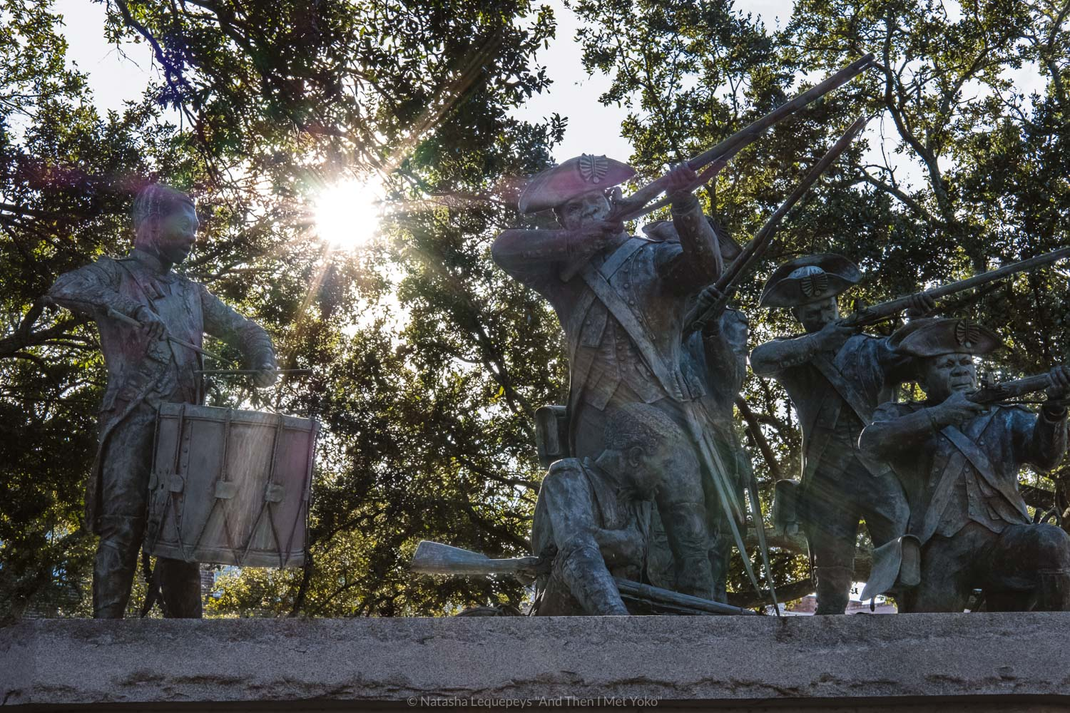 """The Haitian Monument in Franklin Square, downtown Savannah, Georgia. Travel photography and guide by © Natasha Lequepeys for """"And Then I Met Yoko"""". #savannah #usa #travelguide #travelblog"""