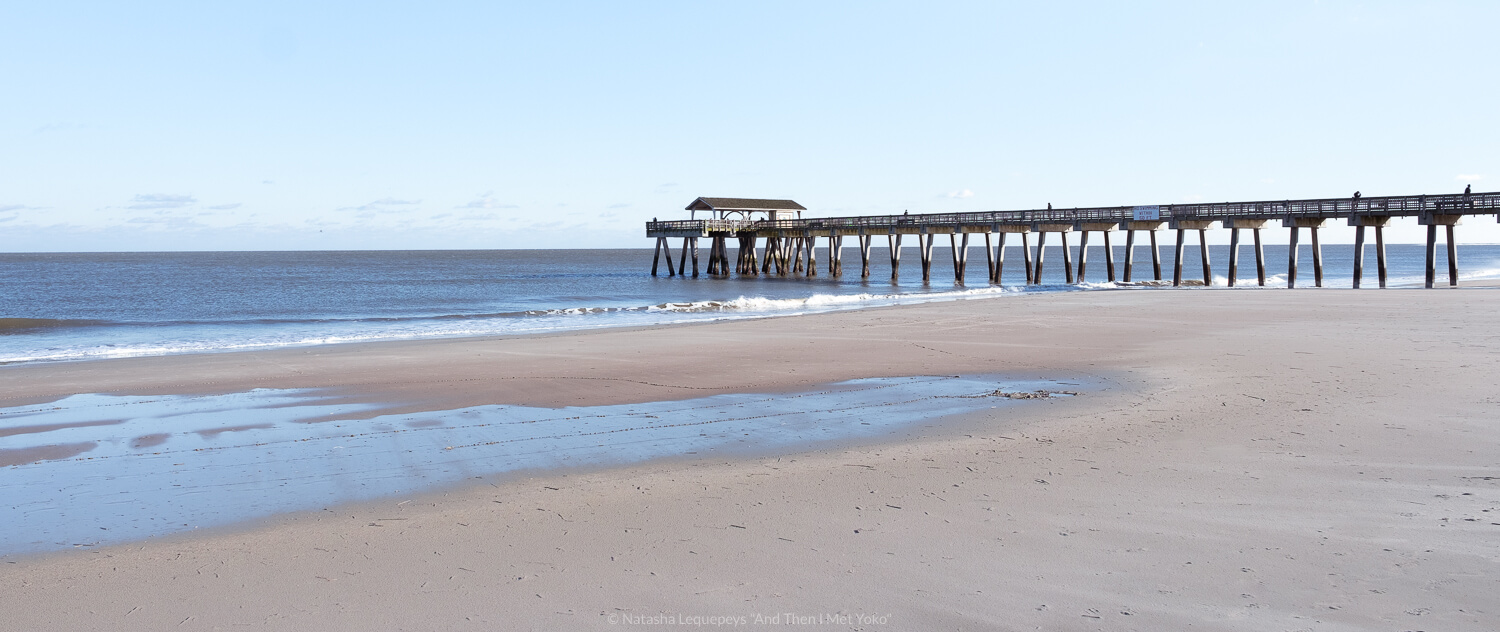 """Tybee Beach Pier and Pavilion. Travel photography and guide by © Natasha Lequepeys for """"And Then I Met Yoko"""". #savannah #usa #travelguide #travelblog"""