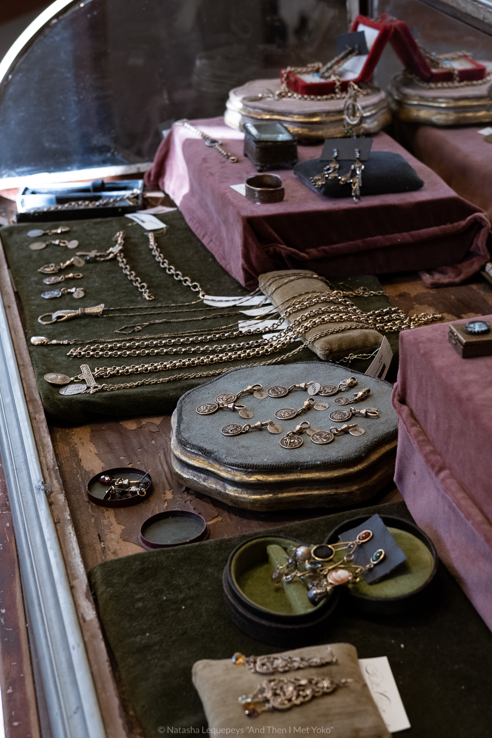 "Jewelry at the Paris Market in Savannah, GA. Travel photography and guide by © Natasha Lequepeys for ""And Then I Met Yoko"". #savannah #usa #travelguide #shoppingguide"