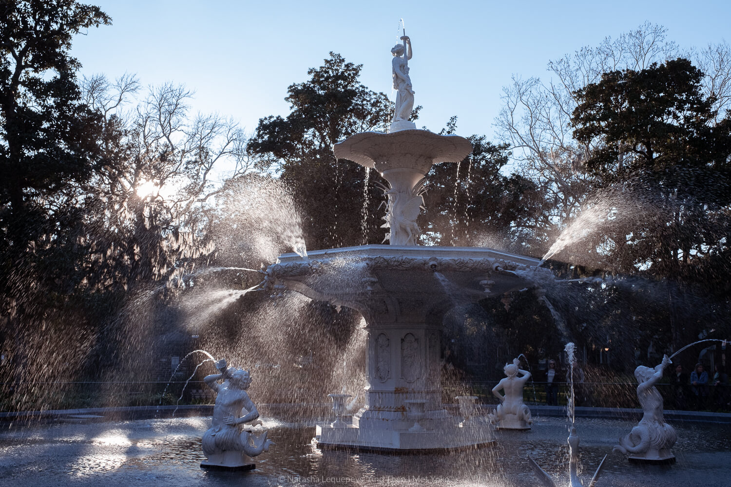 """Fountain in Forsyth Park. Travel photography and guide by © Natasha Lequepeys for """"And Then I Met Yoko"""". #savannah #usa #travelguide #travelblog"""