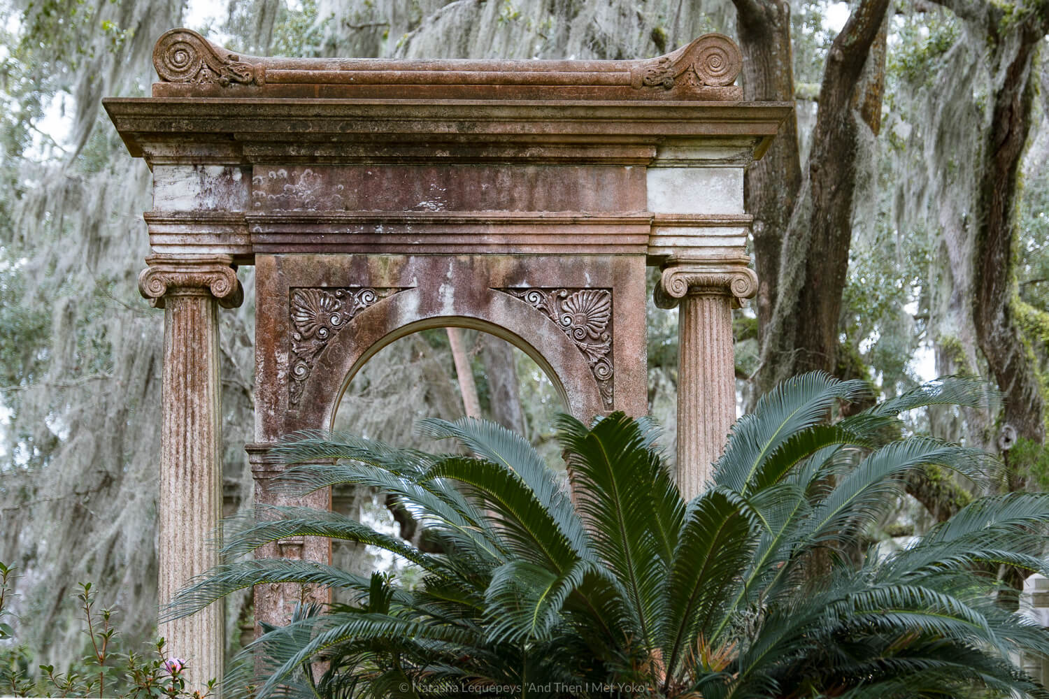 """Bonaventure Cemetery in Savannah, Georgia. Travel photography and guide by © Natasha Lequepeys for """"And Then I Met Yoko"""". #bonaventurecemetery #savannah #travelguide #travelblog #travelphotography #fujifilm"""
