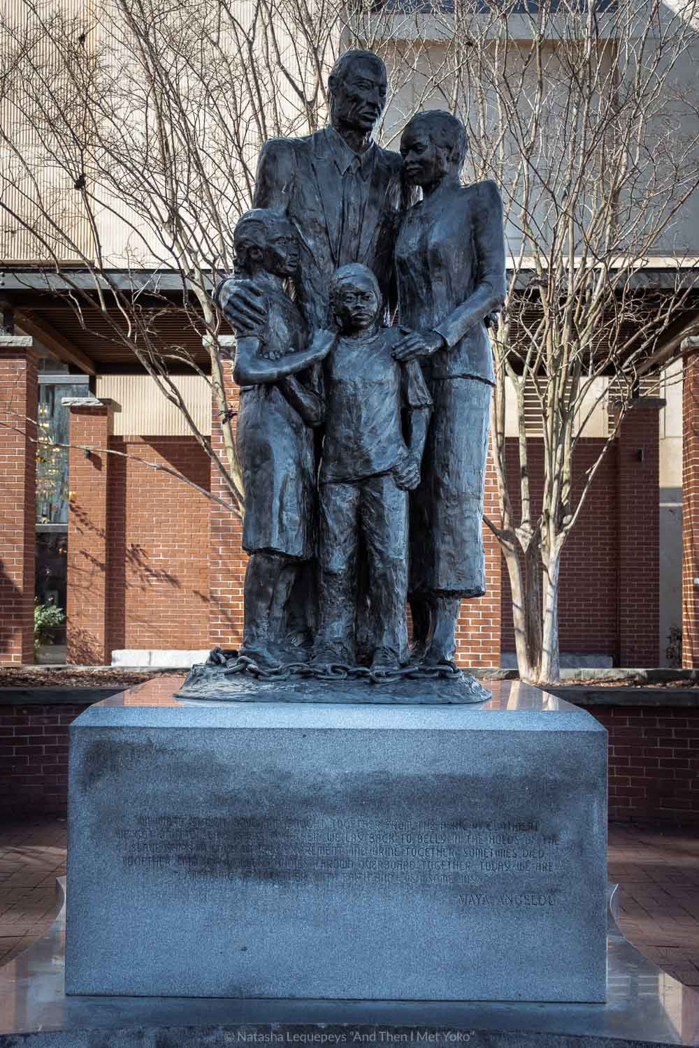 """The enslaved people memorial in downtown Savannah, Georgia. Travel photography and guide by © Natasha Lequepeys for """"And Then I Met Yoko"""". #savannah #usa #travelguide #travelblog"""
