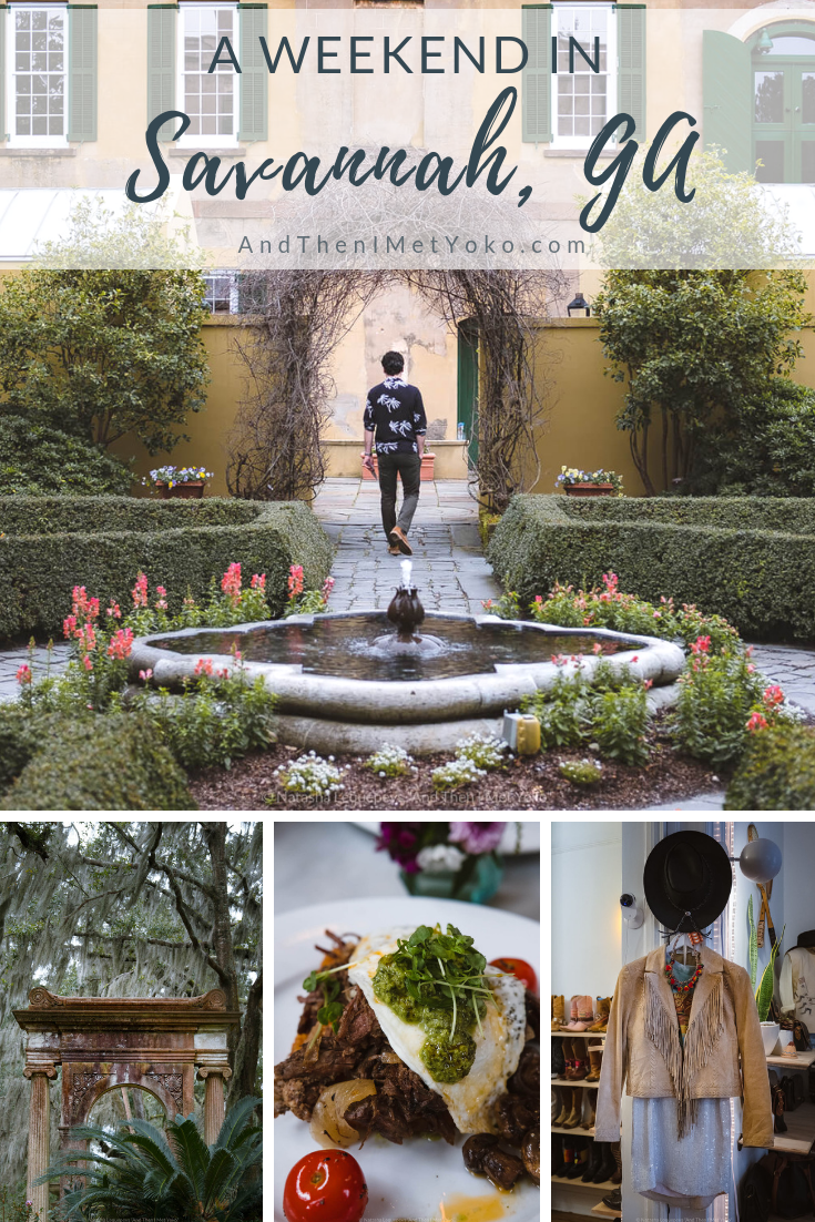 """A helpful travel guide and itinerary for a weekend in Savannah, Georgia. This guide includes a list of fun activities, the best restaurants, accommodation and stylish boutiques. Travel photography and guide by © Natasha Lequepeys for """"And Then I Met Yoko"""". #savannah #usa #travelphotography #travelguide #travelblog"""