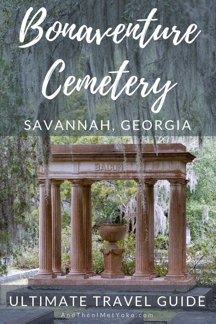 """A travel guide and honest review of Shannon Scott's Bonaventure Cemetery tour in Savannah, Georgia. Travel photography and guide by © Natasha Lequepeys for """"And Then I Met Yoko"""". #bonaventurecemetery #savannah #travelguide #travelblog #travelphotography #fujifilm"""