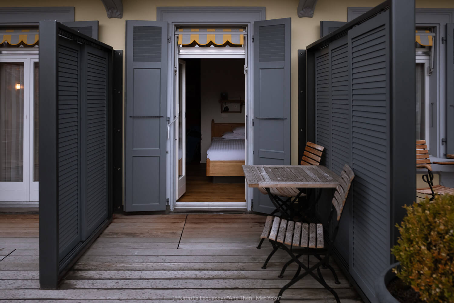 My room and first floor balcony