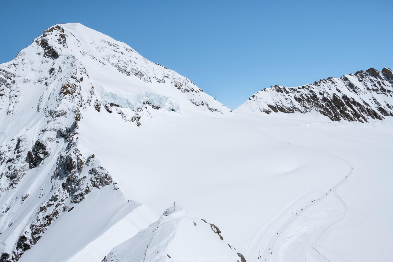 "Jungfrau from Jungfraujoch, Switzerland. Travel photography and guide by © Natasha Lequepeys for ""And Then I Met Yoko"". #wengen #switzerland #jungfrau #travelphotography #fujifilm"