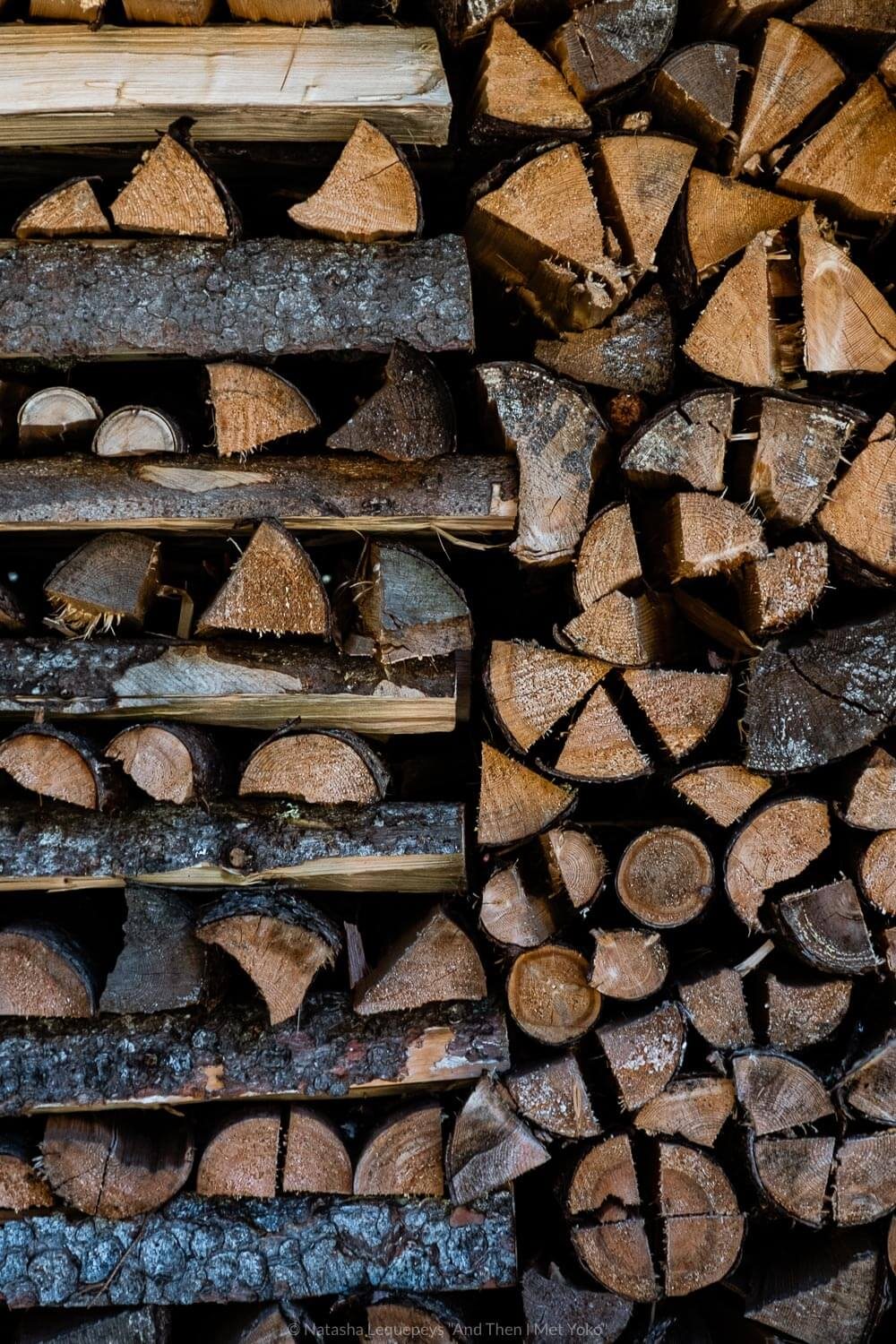 "Stacks of chopped wood. Travel photography and guide by © Natasha Lequepeys for ""And Then I Met Yoko"". #wengen #jungfrau #travelphotography #switzerland"