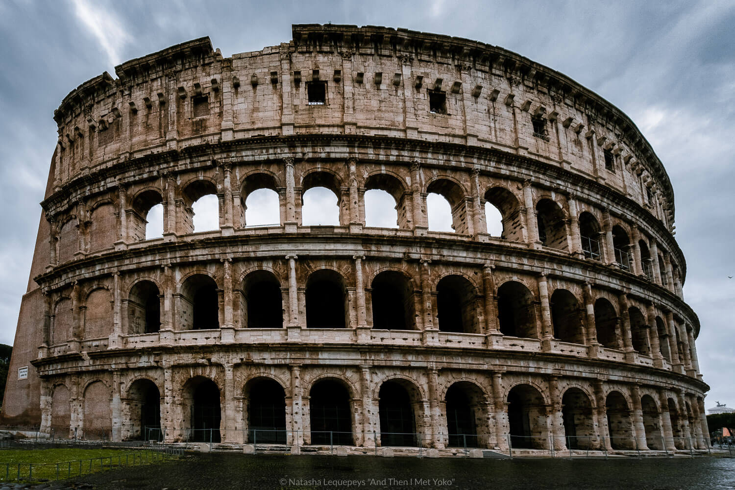 """The Colosseum in Rome, Italy. Travel photography and guide by © Natasha Lequepeys for """"And Then I Met Yoko"""". #rome #italy #travelblog #travelphotography"""