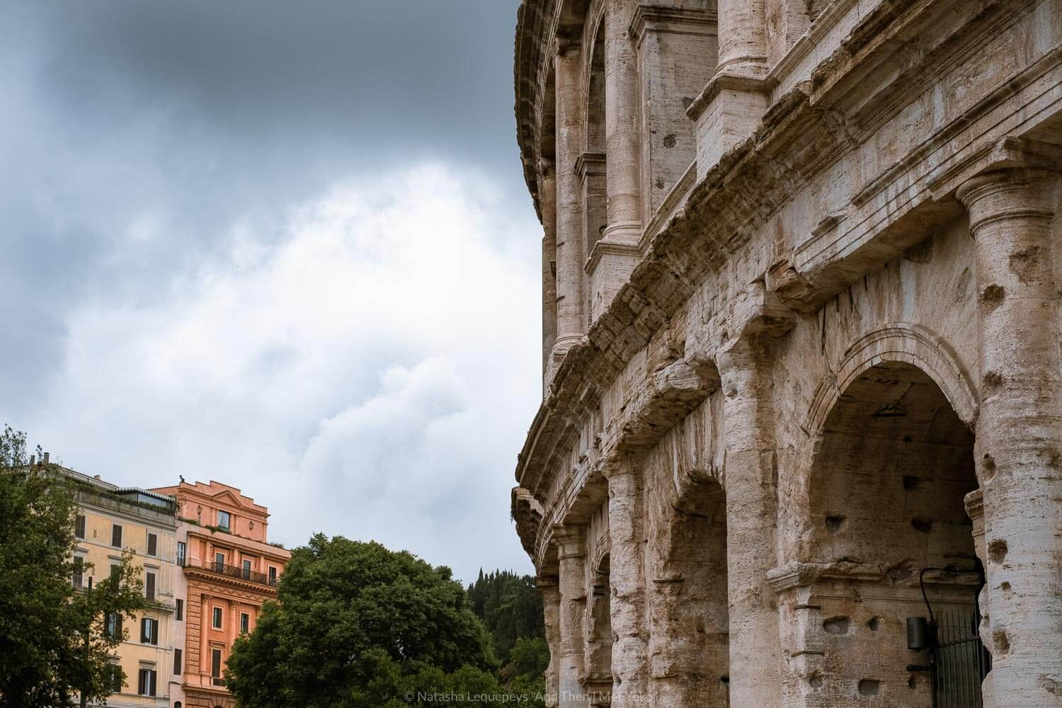 """The outside of the Colosseum in Rome, Italy. Travel photography and guide by © Natasha Lequepeys for """"And Then I Met Yoko"""". #rome #italy #travelblog #travelphotography"""