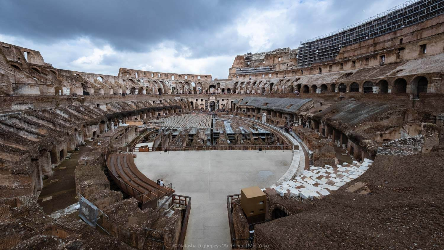 """The inside of the Colosseum in Rome, Italy. Travel photography and guide by © Natasha Lequepeys for """"And Then I Met Yoko"""". #rome #italy #travelblog #travelphotography"""