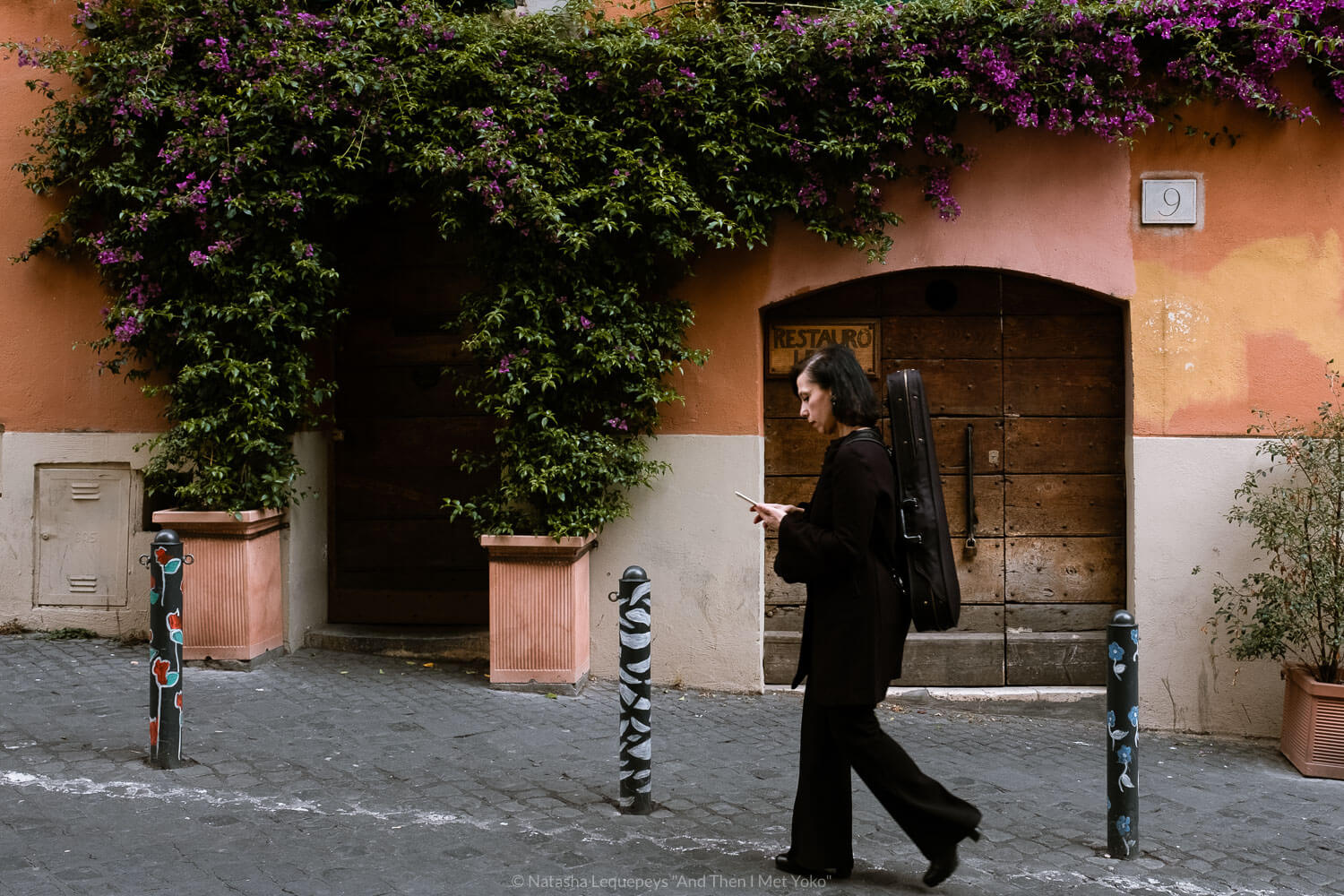 """A woman walking in Monti, Rome, Italy. Travel photography and guide by © Natasha Lequepeys for """"And Then I Met Yoko"""". #rome #italy #travelblog #travelphotography"""
