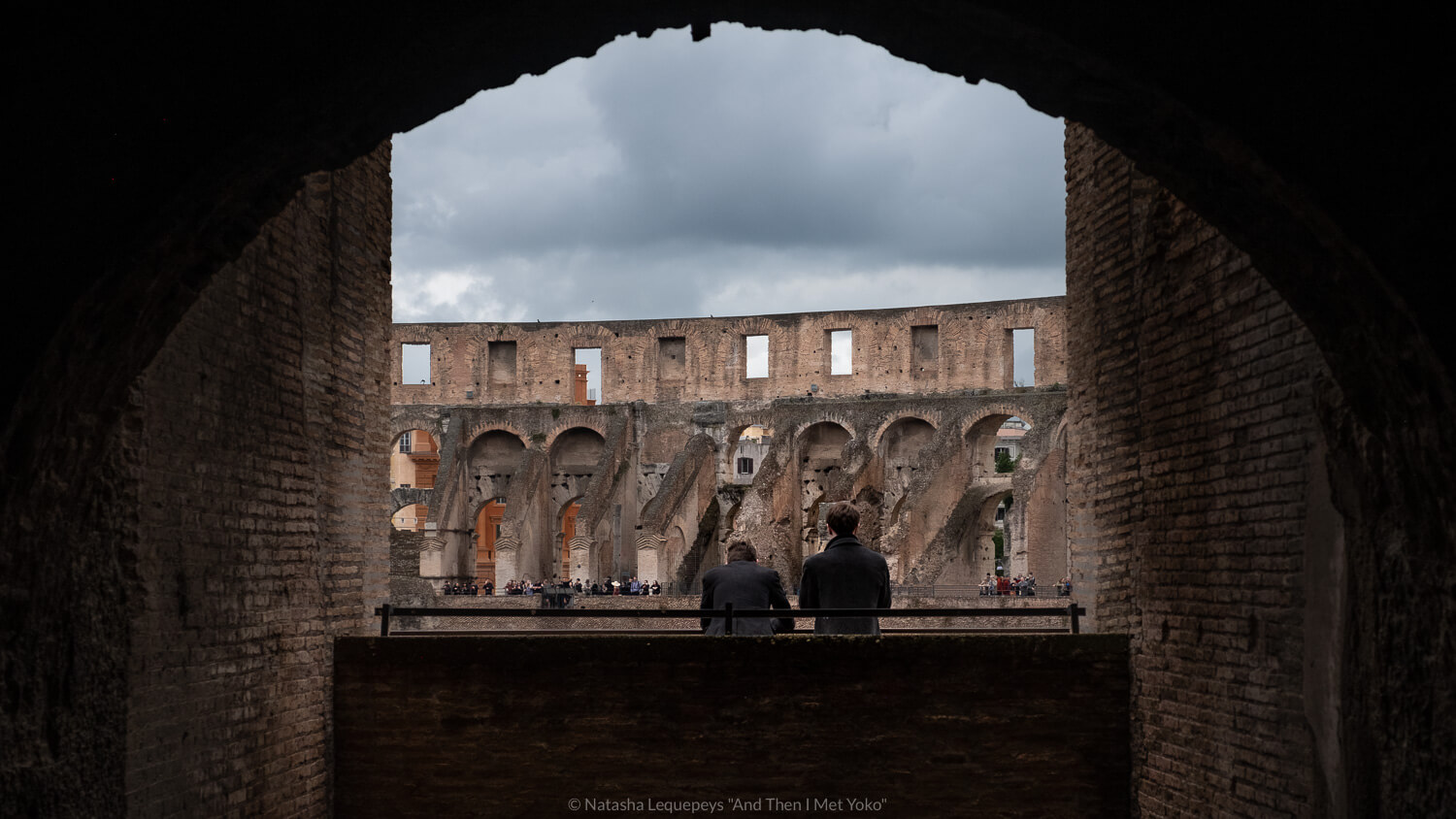 """Men looking out in the Colosseum, Rome. Travel photography and guide by © Natasha Lequepeys for """"And Then I Met Yoko"""". #rome #italy #travelblog #travelphotography"""