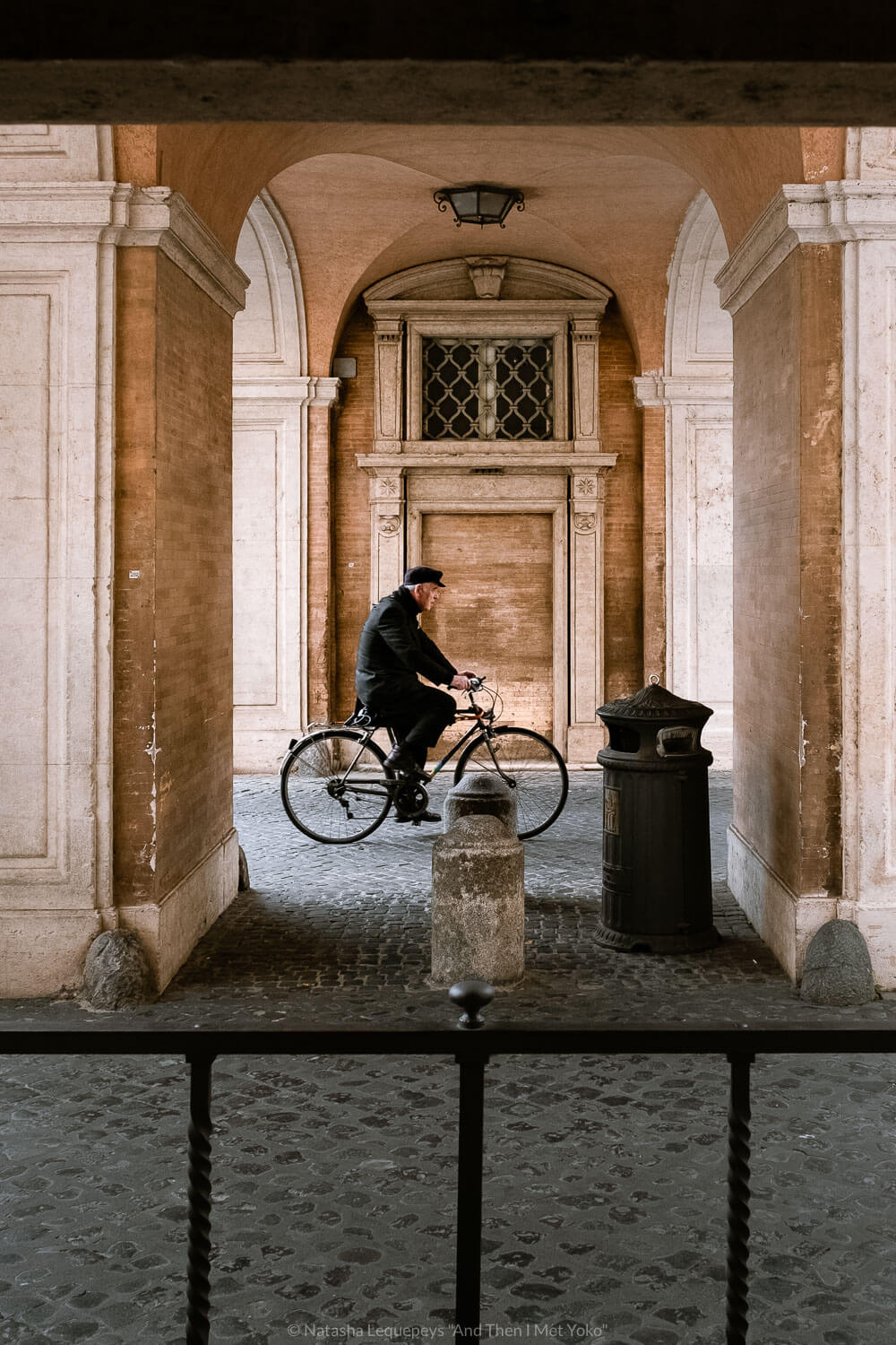"""Man riding his bike, Vatican. Travel photography and guide by © Natasha Lequepeys for """"And Then I Met Yoko"""". #rome #italy #travelblog #travelphotography"""