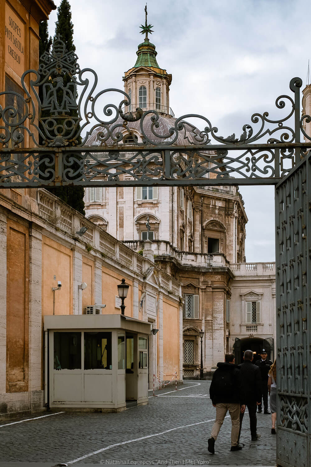 """Entering the Vatican for the Scavi Tour. Travel photography and guide by © Natasha Lequepeys for """"And Then I Met Yoko"""". #rome #italy #travelblog #travelphotography"""