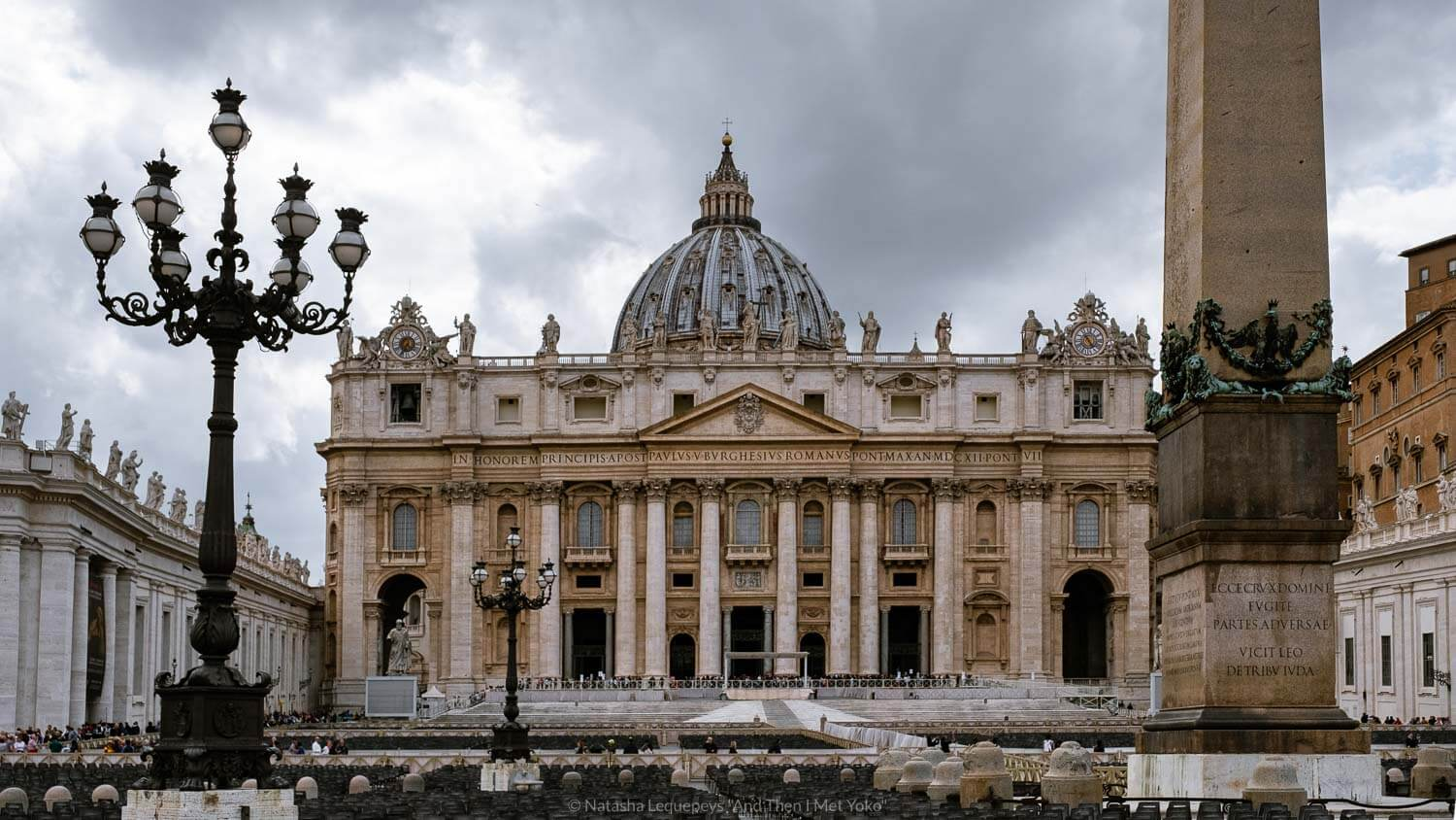 """Saint Peter's Basilica, Vatican. Travel photography and guide by © Natasha Lequepeys for """"And Then I Met Yoko"""". #rome #italy #travelblog #travelphotography"""