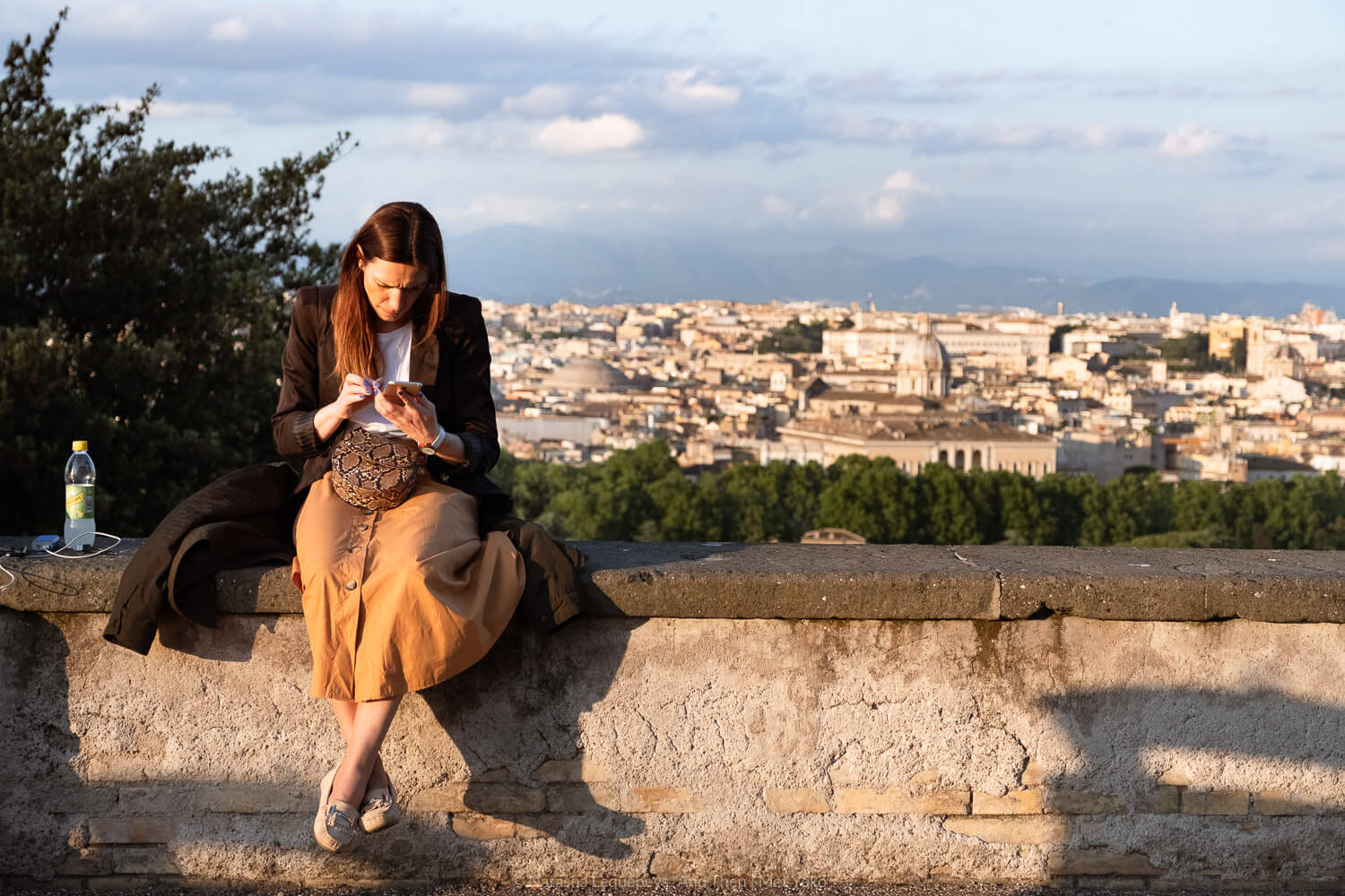 """A woman at the Janiculum Terrace. Travel photography and guide by © Natasha Lequepeys for """"And Then I Met Yoko"""". #rome #italy #travelblog #travelphotography"""