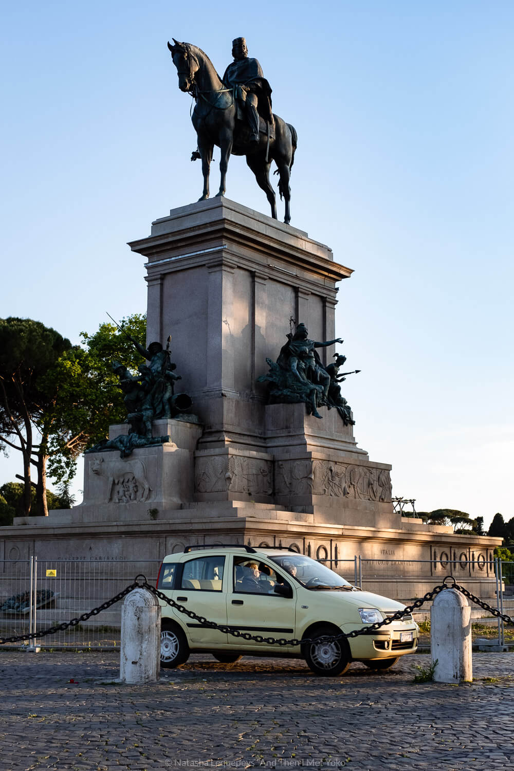 """Monument to Garibaldi on Janiculum Hill. Travel photography and guide by © Natasha Lequepeys for """"And Then I Met Yoko"""". #rome #italy #travelblog #travelphotography"""