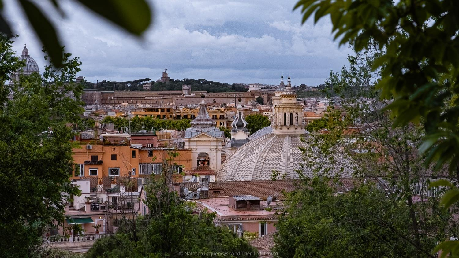 """Views of the city from the Borghese Park in Rome, Italy. Travel photography and guide by © Natasha Lequepeys for """"And Then I Met Yoko"""". #rome #italy #travelblog #travelphotography"""