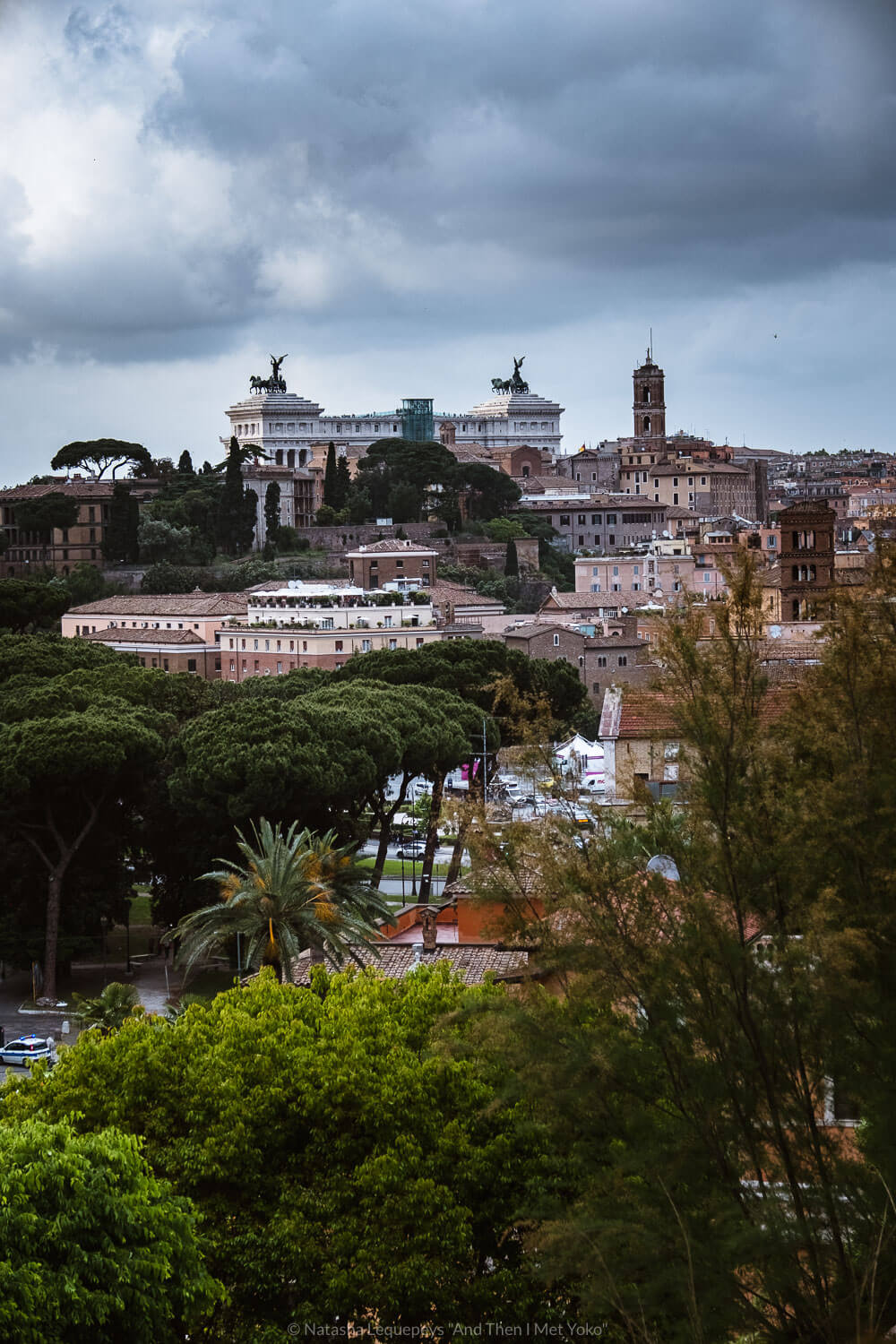 """Views from the Orange Garden in Rome, Italy. Travel photography and guide by © Natasha Lequepeys for """"And Then I Met Yoko"""". #rome #italy #travelblog #travelphotography"""