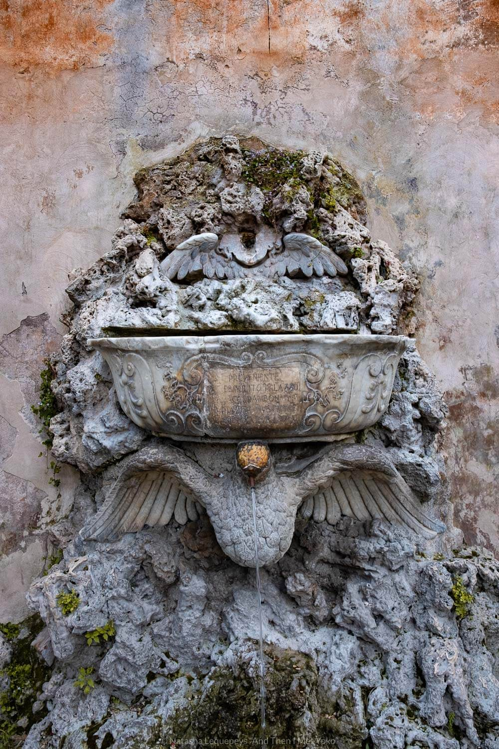 """Water fountain in the Orange Garden in Rome, Italy. Travel photography and guide by © Natasha Lequepeys for """"And Then I Met Yoko"""". #rome #italy #travelblog #travelphotography"""