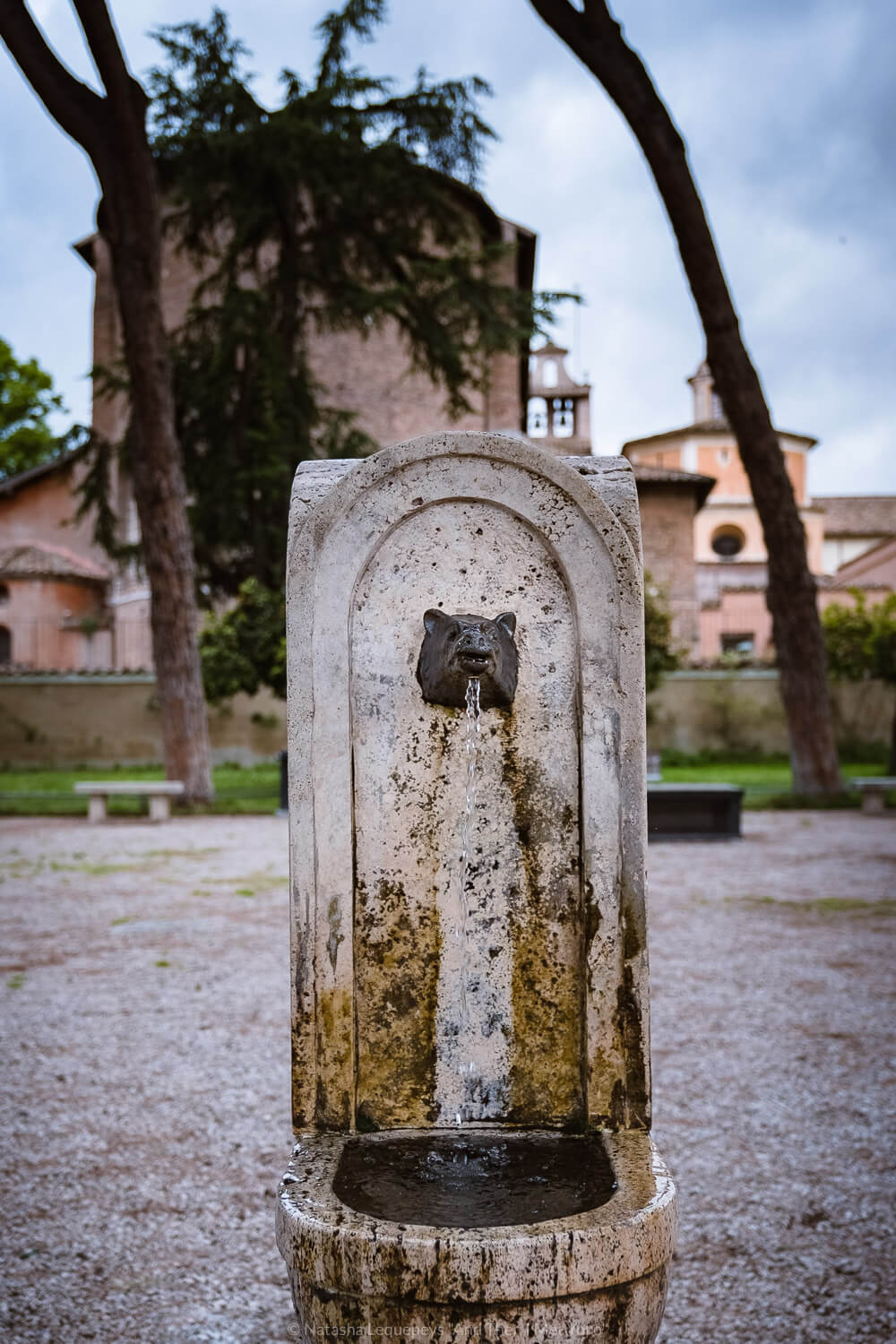 """Water fountain in the Orange Gardens in Rome, Italy. Travel photography and guide by © Natasha Lequepeys for """"And Then I Met Yoko"""". #rome #italy #travelblog #travelphotography"""