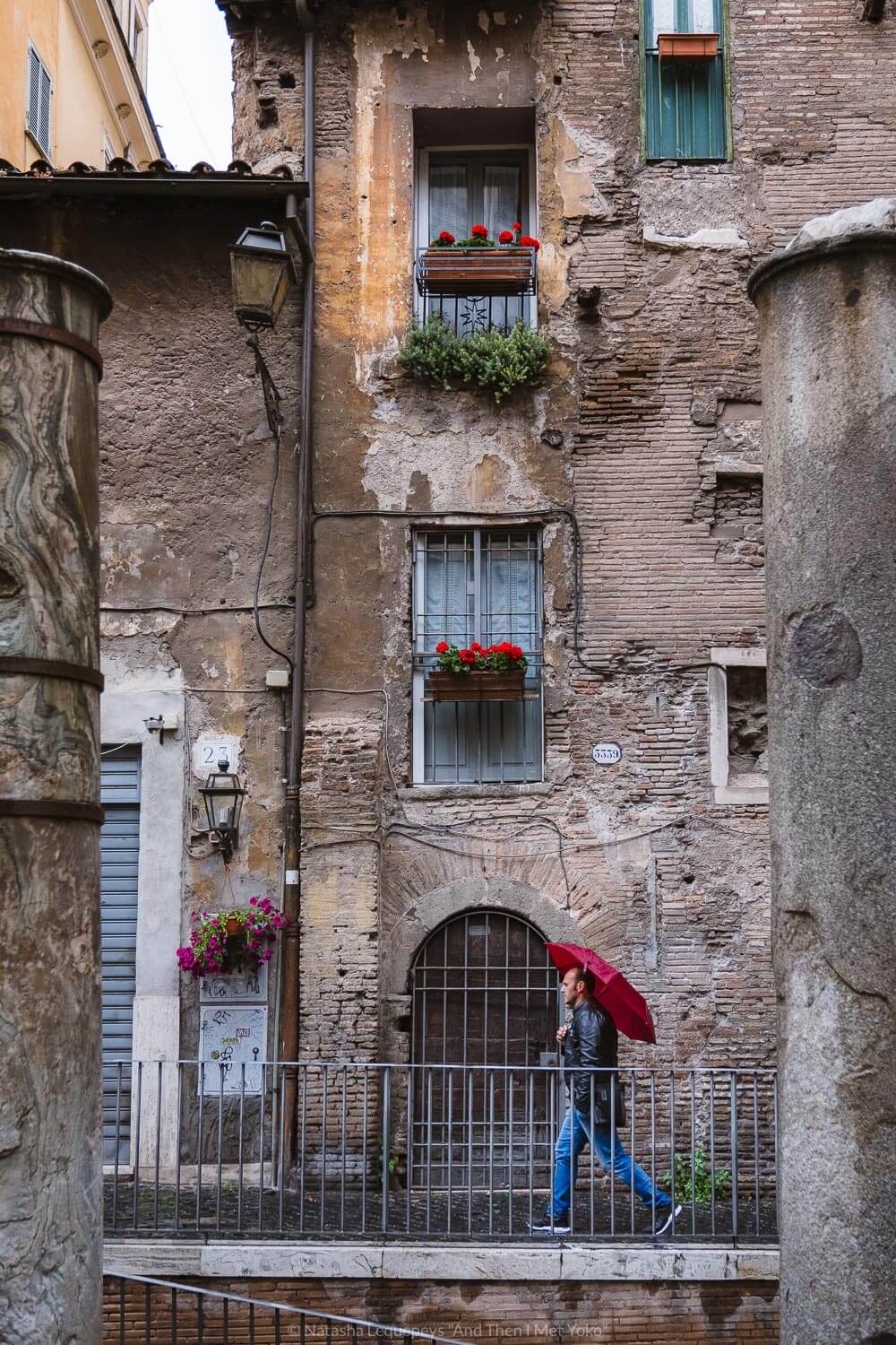 """A man walking in the Jewish Ghetto of Rome, Italy. Travel photography and guide by © Natasha Lequepeys for """"And Then I Met Yoko"""". #rome #italy #travelblog #travelphotography"""