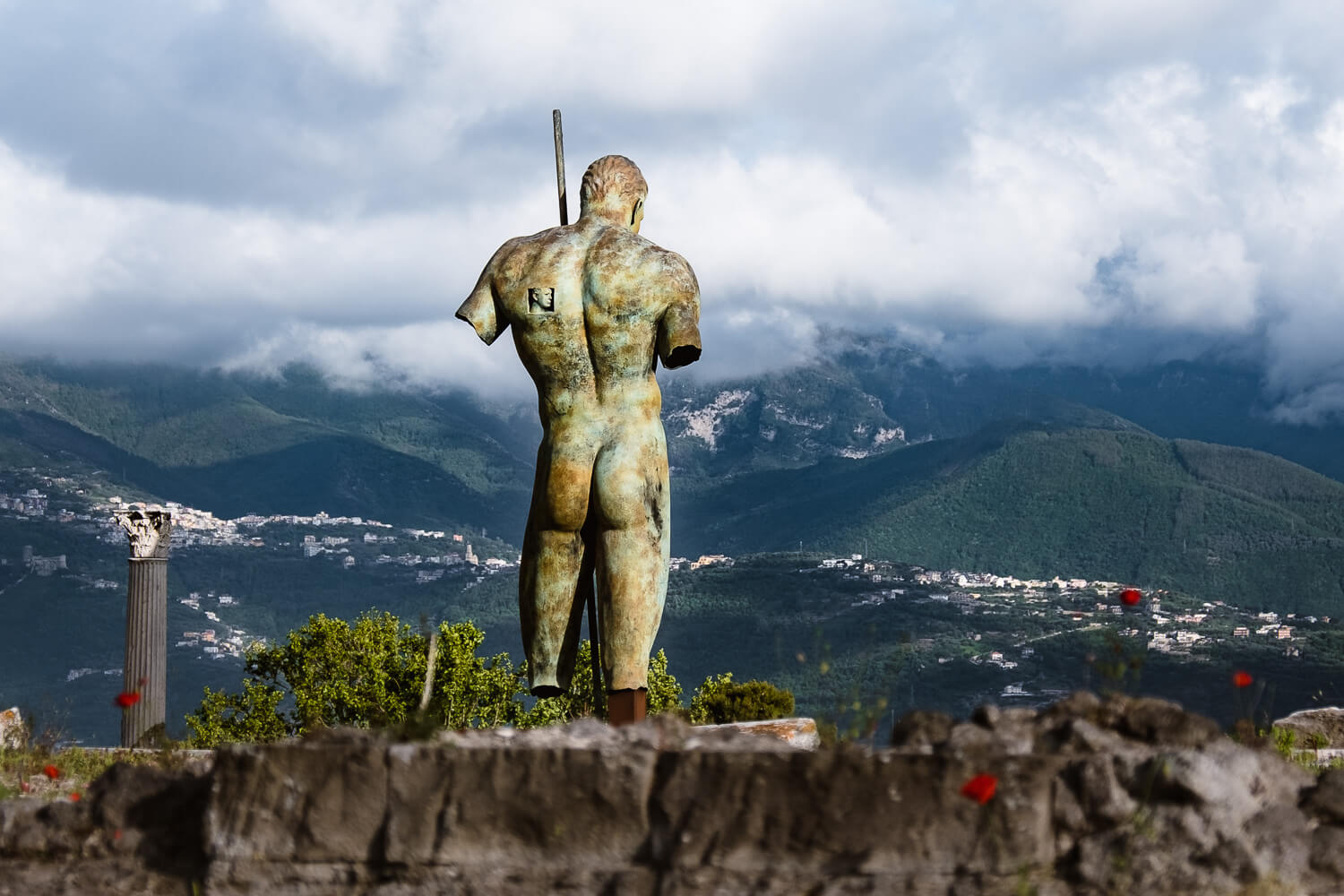 """Statue in Pompeii. Travel photography and guide by © Natasha Lequepeys for """"And Then I Met Yoko"""". #rome #italy #travelblog #travelphotography"""