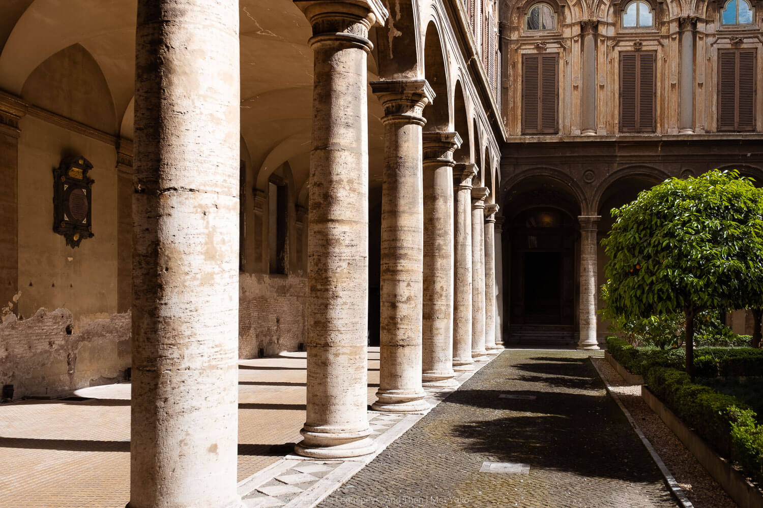"""Courtyard in the Doria Pamphilj Gallery, Rome. Travel photography and guide by © Natasha Lequepeys for """"And Then I Met Yoko"""". #rome #italy #travelblog #travelphotography"""