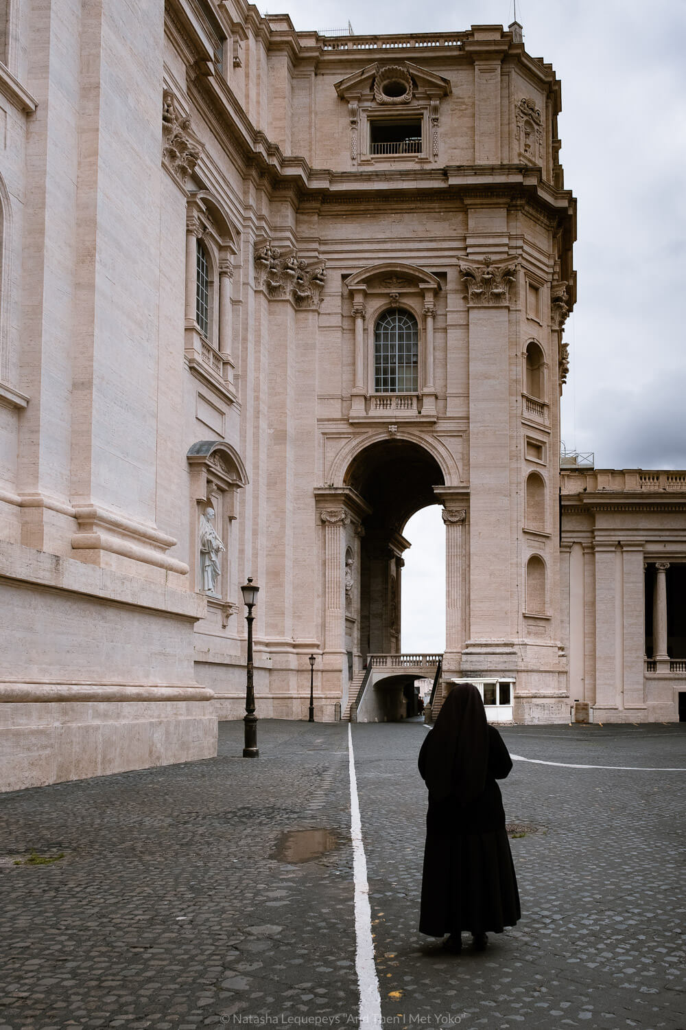 """A nun walking in the Vatican. Travel photography and guide by © Natasha Lequepeys for """"And Then I Met Yoko"""". #rome #italy #travelblog #travelphotography"""