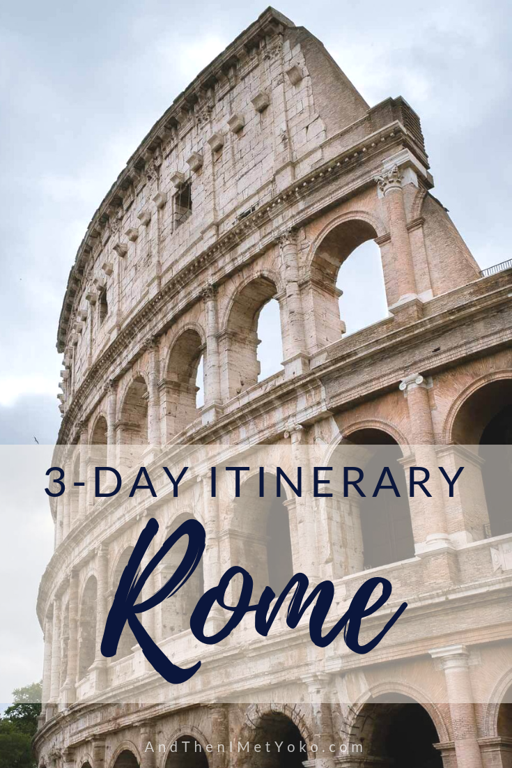 """A 3-day itinerary and photographic travel guide to Rome, Italy. Travel photography and guide by © Natasha Lequepeys for """"And Then I Met Yoko"""". #rome #italy #travelblog #travelphotography"""
