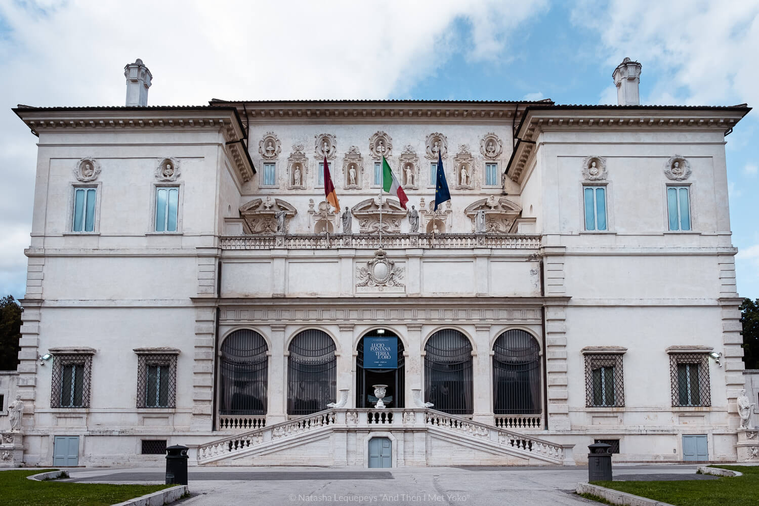 """The Borghese Gallery in Rome, Italy. Travel photography and guide by © Natasha Lequepeys for """"And Then I Met Yoko"""". #rome #italy #travelblog #travelphotography"""