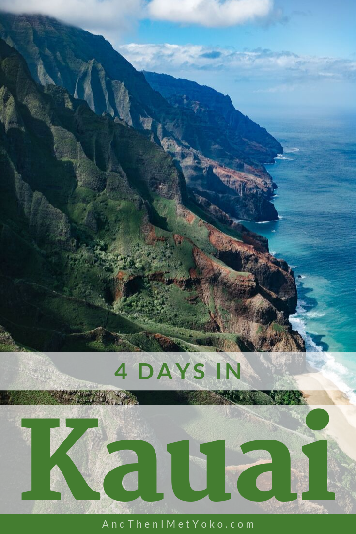 """Explore the natural wonders of Kauai with this complete travel guide. Includes a map with itinerary and tips on accommodation, food and sights. Travel photography and guide by © Natasha Lequepeys for """"And Then I Met Yoko"""". #kauai #hawaii #travelguide #travelphotography"""
