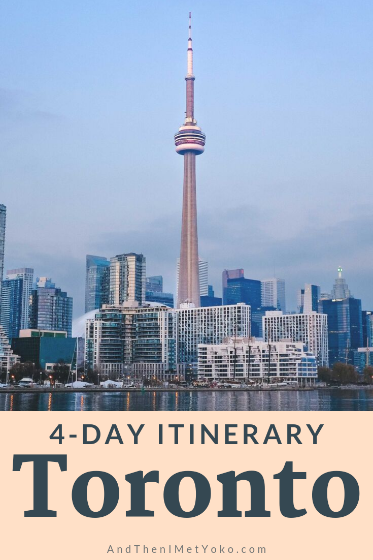 This is my ultimate 4-day itinerary for Toronto. My travel guide includes my local perspective and favourite highlights and restaurants in the city. #travelphotography #canada #torontoitinerary