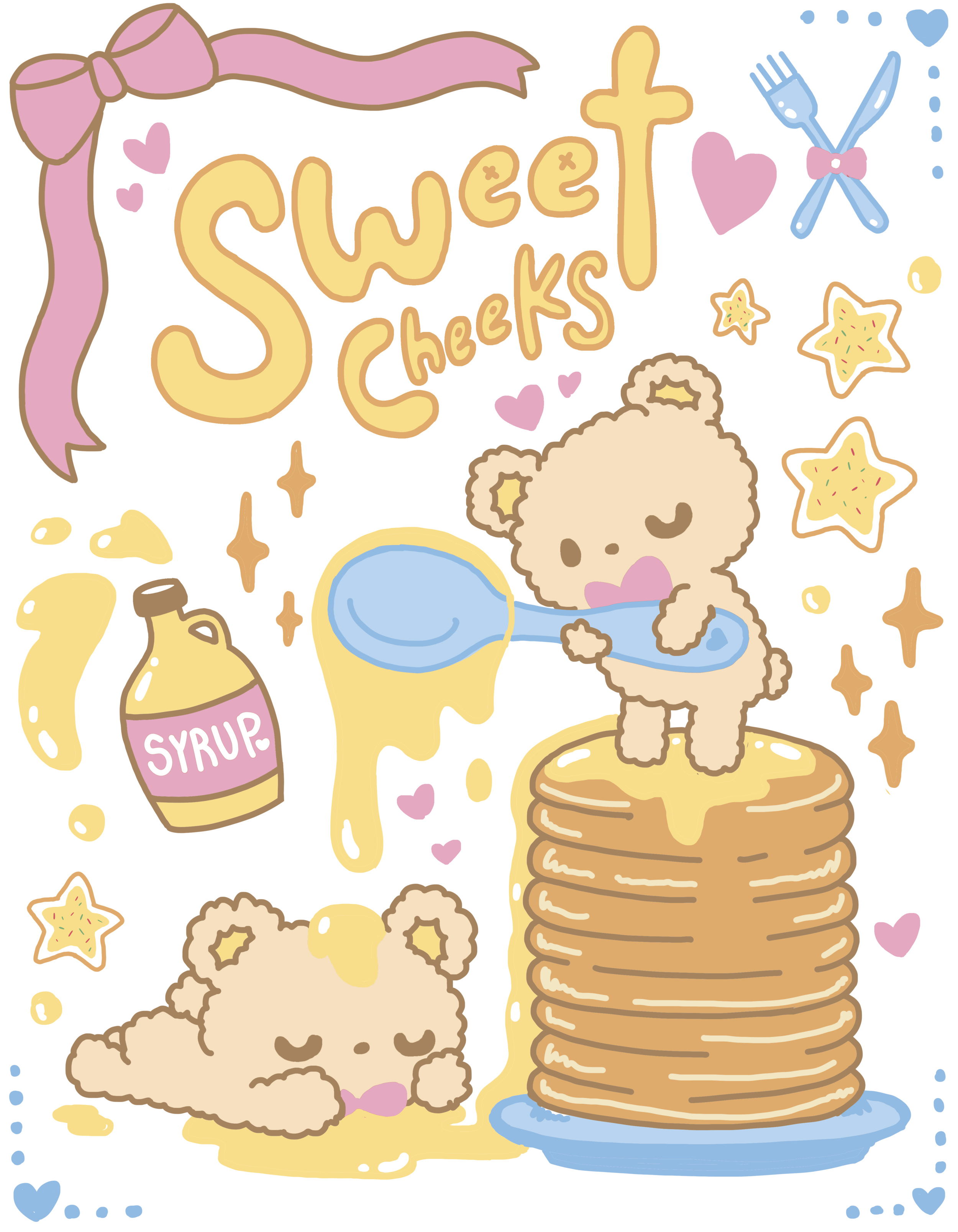 Sweet Cheeks Illustration