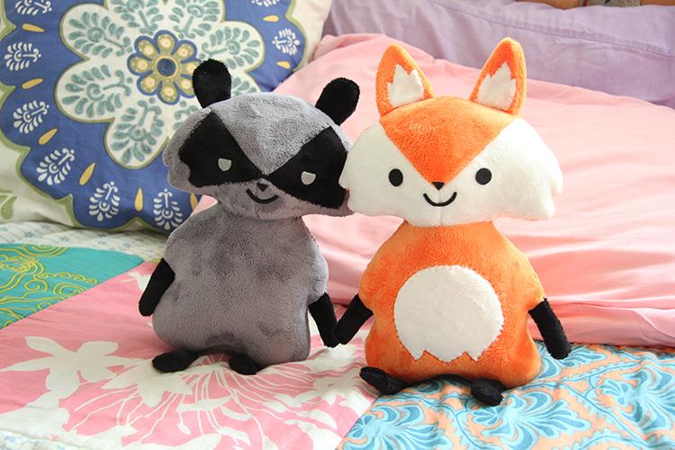 Original Fox & Raccoon Plush Designs