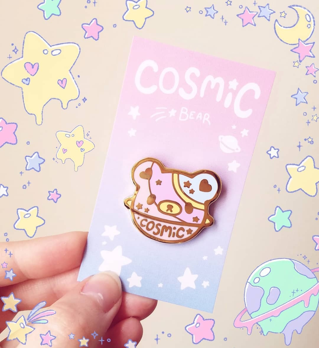 Cosmic Bear Enamel Pin