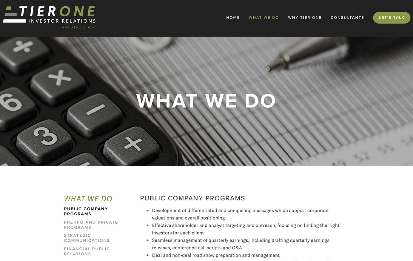 Tier One  Logo Design • Website Creation