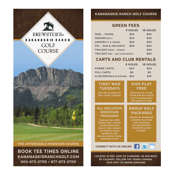 Gold Rack Card Graphic Design Calgary