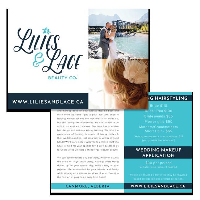 Beauty Salon Graphic Designer Postcard Canmore