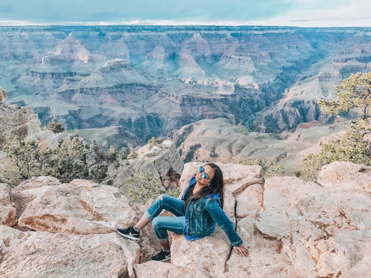 Grand Canyon, Arizona, USA  - I have extreme fear of heights. As a solo female traveler, I learned how to conquer fears by confidence and a smile.