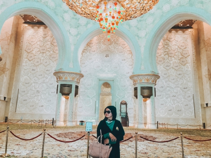 The Grand Mosque of Abu Dhabi is one of the most beautiful structures I've ever visited. I believe that if you open your mind to other cultures, you will receive more, learn more, and become a better person.