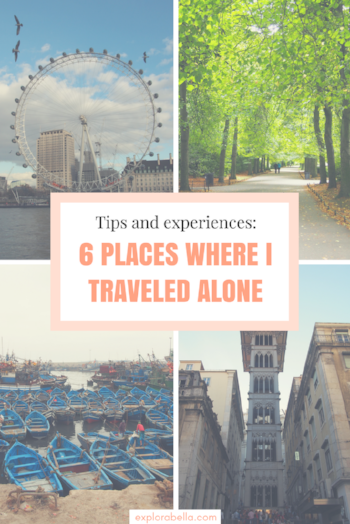 Solo Female Travel experience: travel stories and tips for London, Dublin, Barcelona, Madrid, Lisbon, and Marrakech.