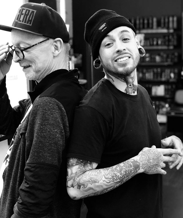 Happy holidays from our family here at Peter Thomas to yours! Here's Peter and Isai in the studio, cooking up all kinds of innovative hair ideas 🖤⠀ ⠀ #peterthomashair #berkeley #berkeleyhair #bayareahair #bayareahairstylist #hairinspo #haircutideas #haircut #hairstyle #behindthechair #hairstyles #hairstylist #haircolor #hairdo #hairdressing #hairdressermagic #hairdressing #scissorcut #precisionhaircut #hairsalon #malehaircuts #guyhaircut #bayareasalon #shorthair #longhair #bw #blackandwhite