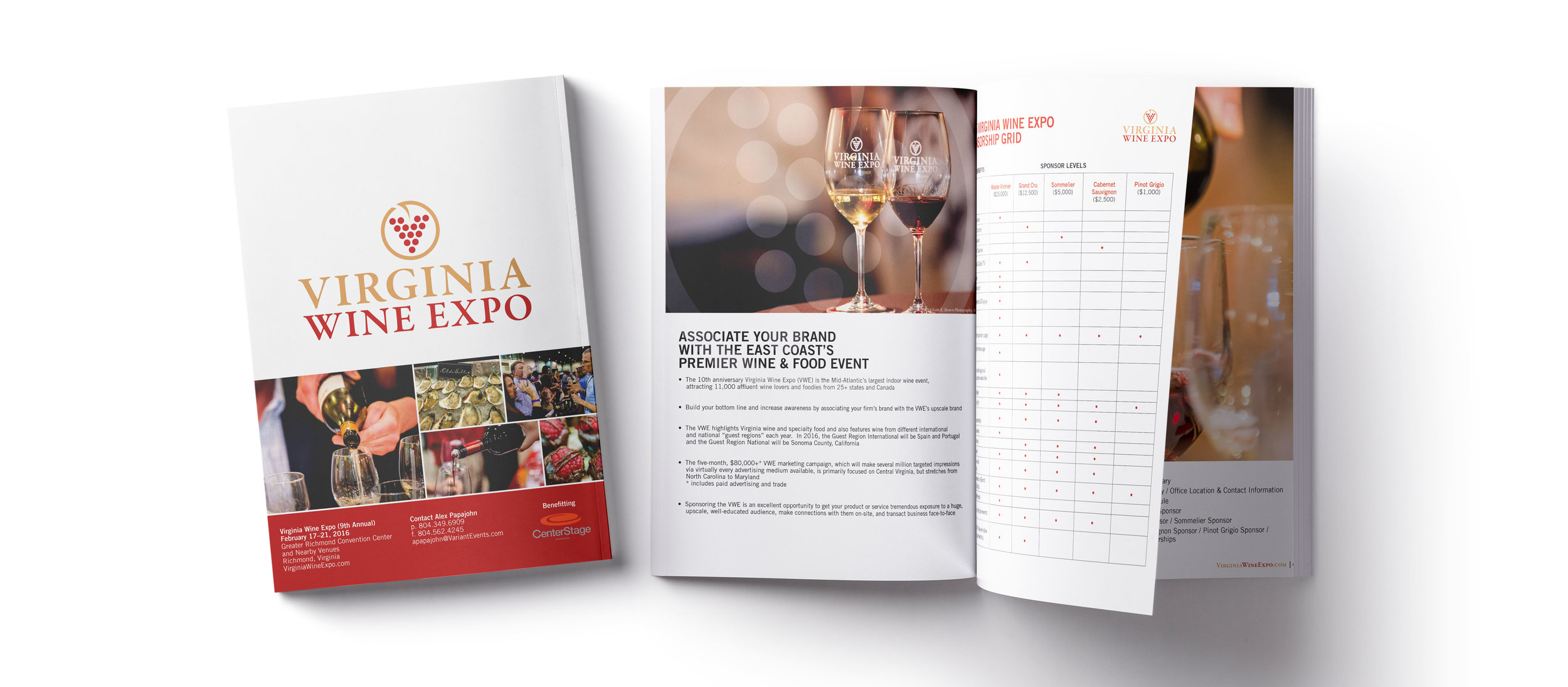 Virginia Wine Expo Sponsorship Guide - Graphic Design