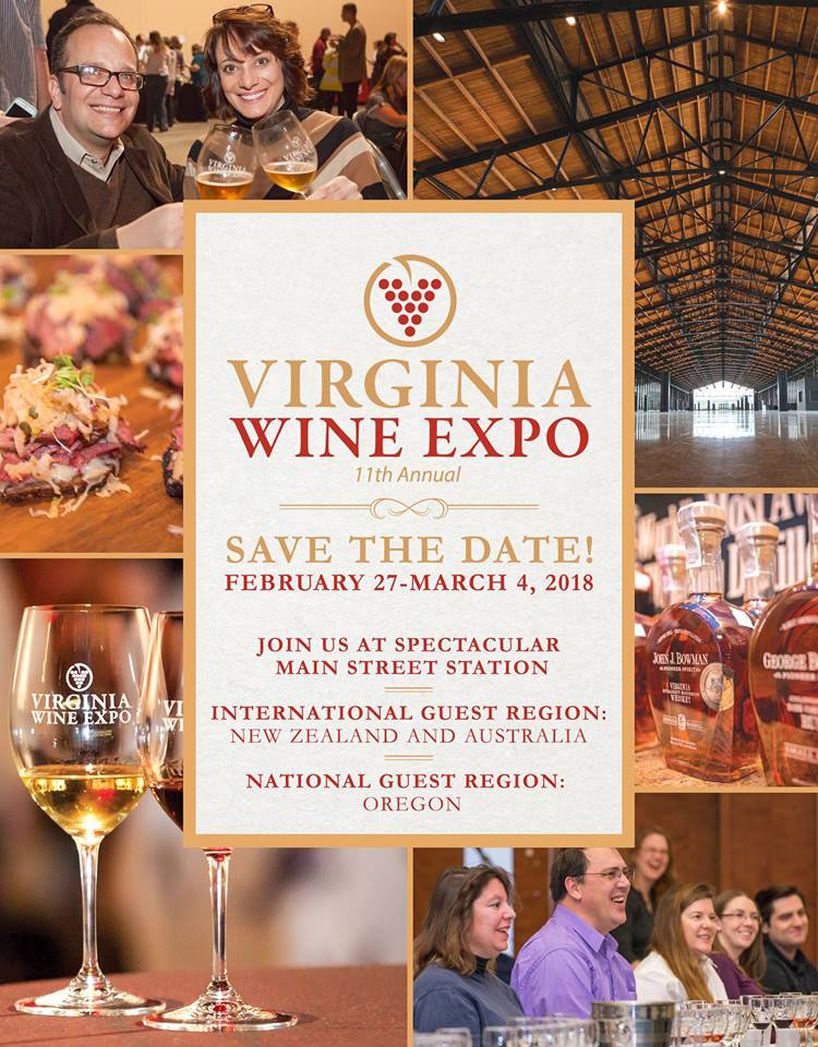 Virginia Wine Expo Ad Graphic Design