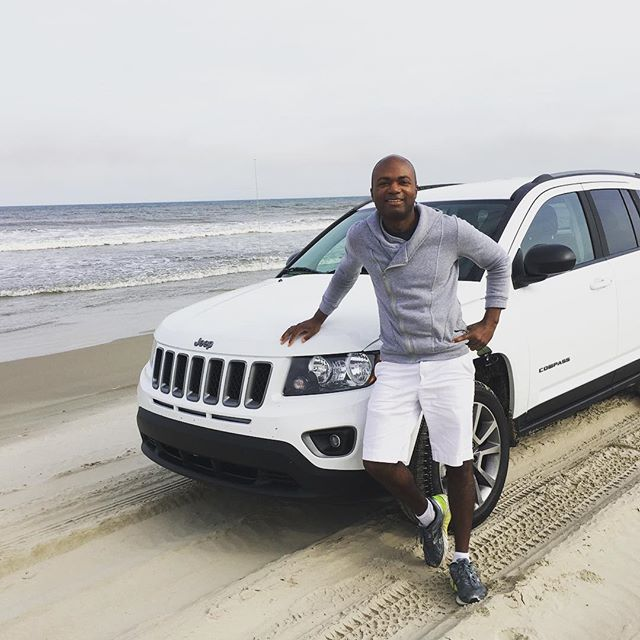 Tried something new today in my new #JeepCompass Went #offroading in the #obx #northcarolina Mini Vacation. #jeeplife #actorlife #djlife #entrepreneur #islandlife #vacation #teamjeep #scorpiodjs
